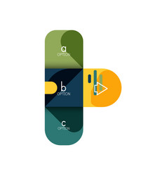 Infographics option and step by step in rounded vector
