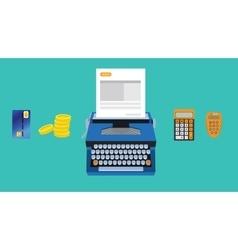 Invoice with money calculator money vector
