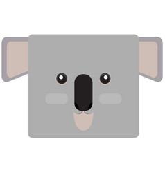 Isolated koala face vector