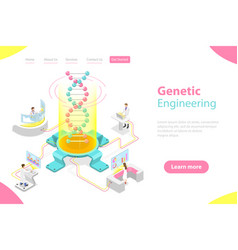 isometric flat concept genetic vector image