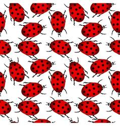 Ladybugs seamless pattern vector image