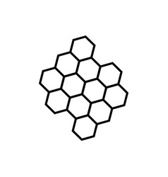line honeycomb icon vector image