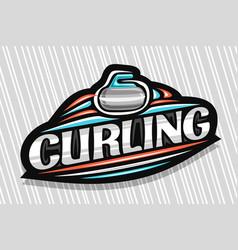 Logo for curling sport vector
