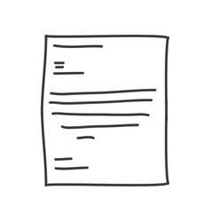 Monochrome contour of paper sheet text vector