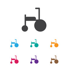 Of kid symbol on tricycle icon vector