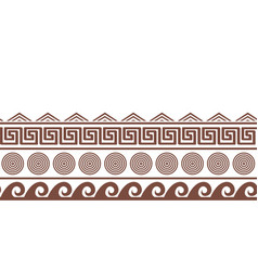 old greek seamlesshorizontal border design vector image