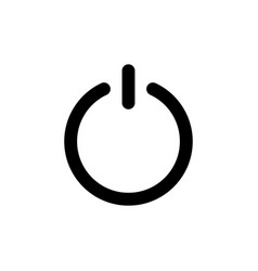 on off switch power line web or mobile interface vector image