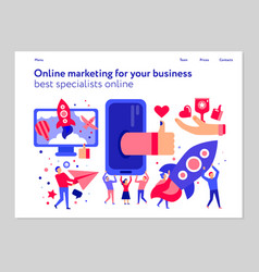 online marketing concept web banner vector image
