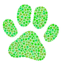 paw footprint collage of circles vector image