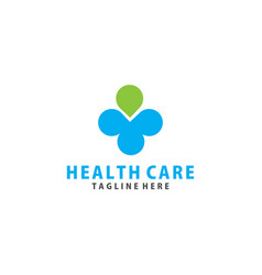People and cross plus medical logo icon design vector