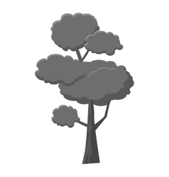 Pine tree icon gray monochrome style vector