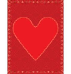 red valentine vector image