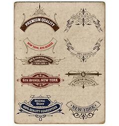 Retro banners vector