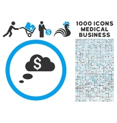 Richness Dream Clouds Icon with 1000 Medical vector
