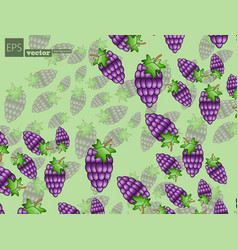 Seamless pattern with yellow bananas pineapples vector