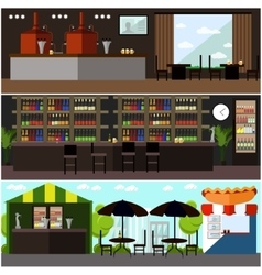 set of brewery and beer restaurant concept vector image