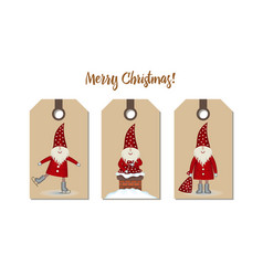 set price tags isolated festive christmas cartoon vector image