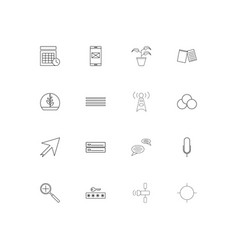Signs and symbols linear thin icons set outlined vector