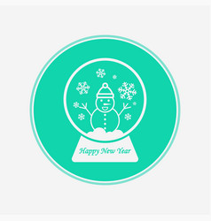 snow globe icon sign symbol vector image