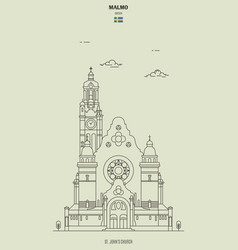 st johns church sweden vector image