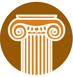 stylized image a greek column vector image