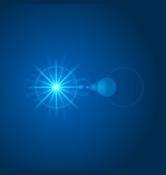 Sun with lens flare lights template and vector