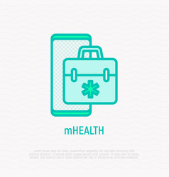 telemedicine thin line icon vector image