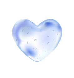 valentine heart made of blue clear water liquid vector image