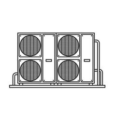 Ventilation iconline icon isolated vector
