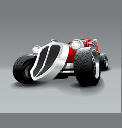 Vintage hot rod custom red classic car vector
