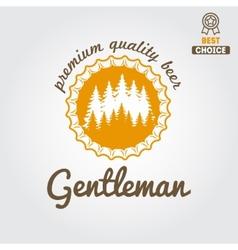 Vintage logo badge emblem or logotype design vector image