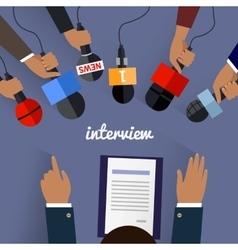 Workspace Interview Design Flat vector image