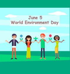 world environmental day june vector image