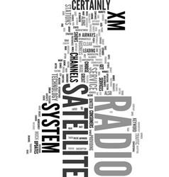 xm satellite radio system text word cloud concept vector image