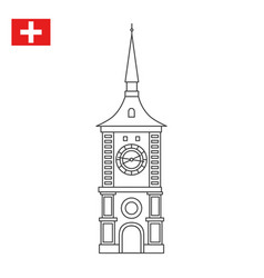 Zytglogge is a landmark medieval tower in bern vector