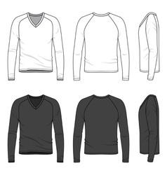Blank v-neck tee vector image vector image