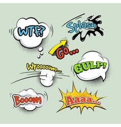 Comic sound effects cartoon set vector image