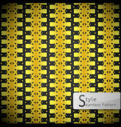 flower golden row bow ribbon vintage geometric vector image