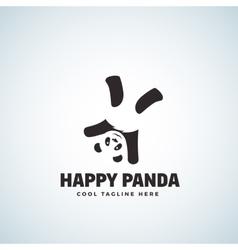 Happy Panda Abstract Emblem or Logo vector image vector image
