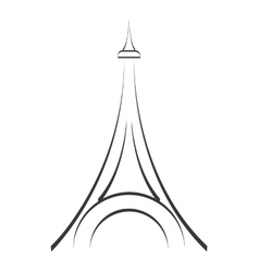 tower eiffel structure icon vector image vector image