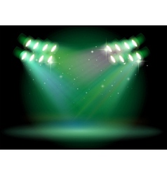 A stage with spotlights vector image