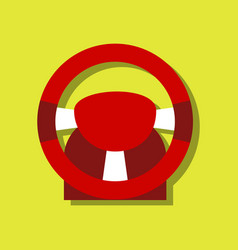 flat icon design collection steering wheel in vector image vector image