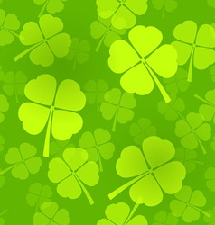 Four-Leaf Clover Pattern vector image