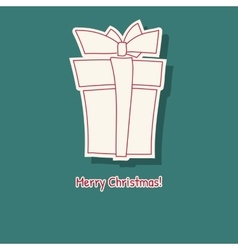 Hand drawn sketch of box gift vector image vector image