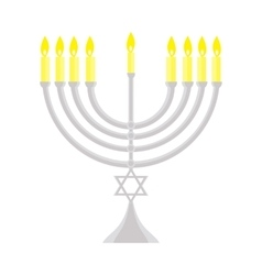 happy Hanukkah Jewish holiday menorah vector image