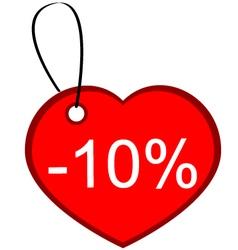 Heart gift tag vector image
