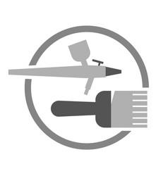 painting preparation symbol vector image