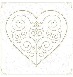 Retro heart luxury logo sign or symbol vector image vector image
