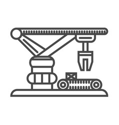 warehouse crane linear icon vector image
