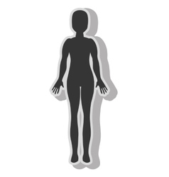 Woman body silhouette vector image